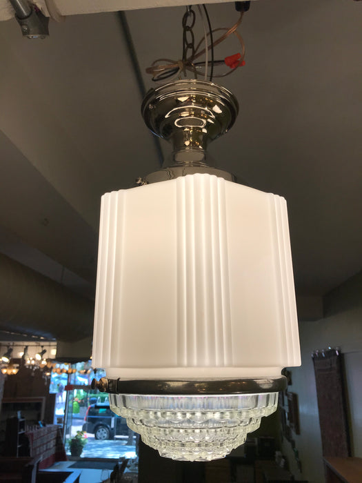 Pair of Art Deco Holophane Flush Mount Fixtures
