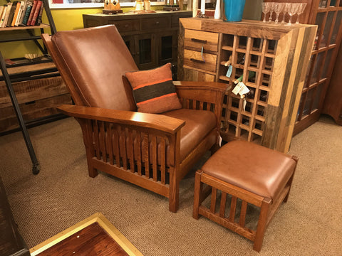 Amish Made Morris Chair & Ottoman