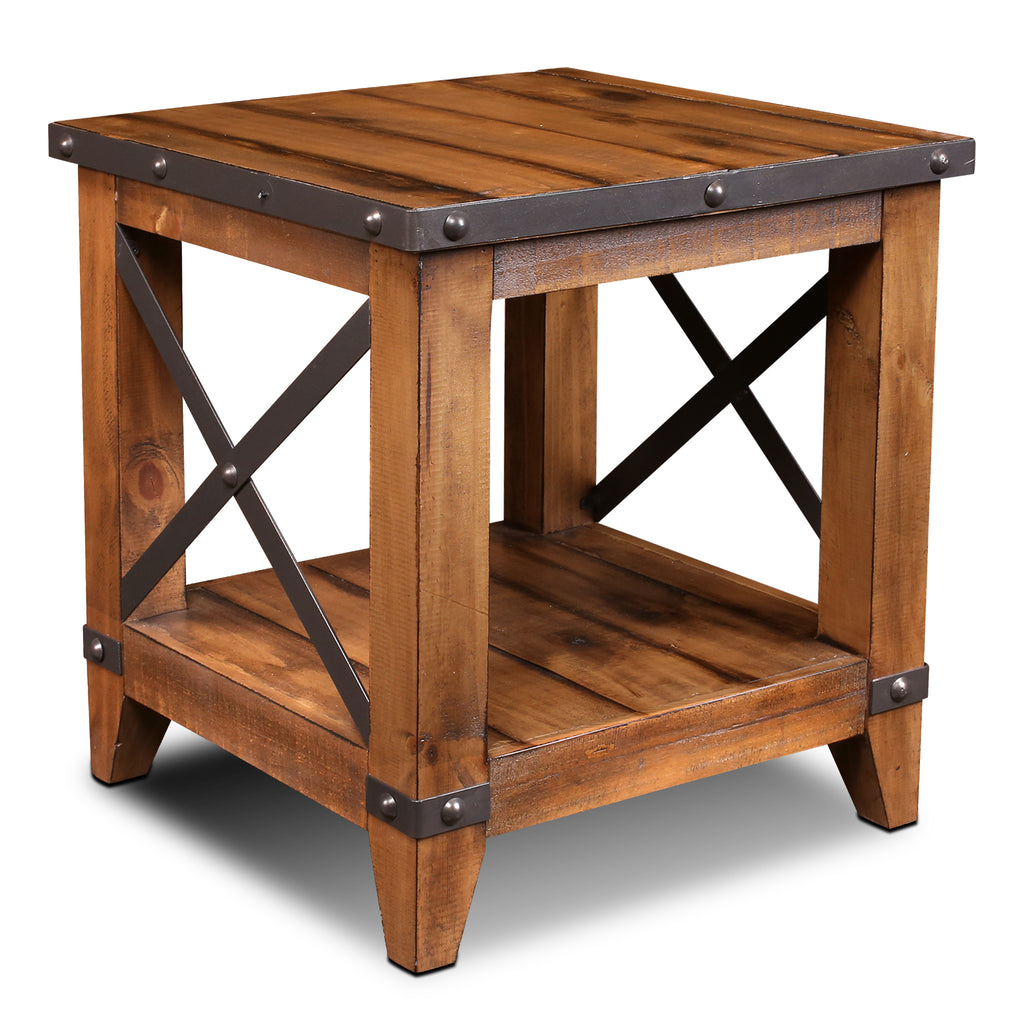 Larson Cross Bar Open End Table