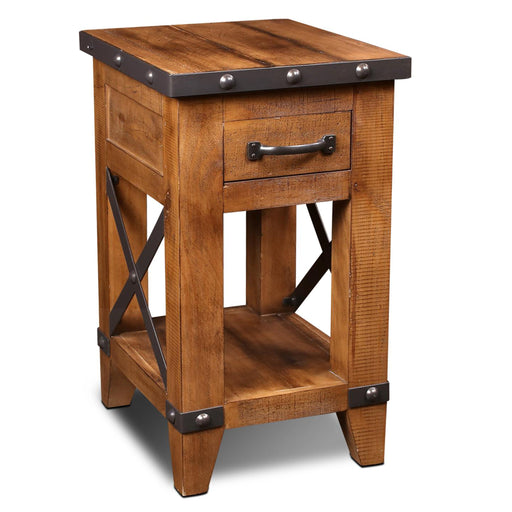 Larson 1 Drawer Side Table - Crafters and Weavers