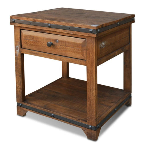 Addison Rustic End Table - Dark - Crafters and Weavers