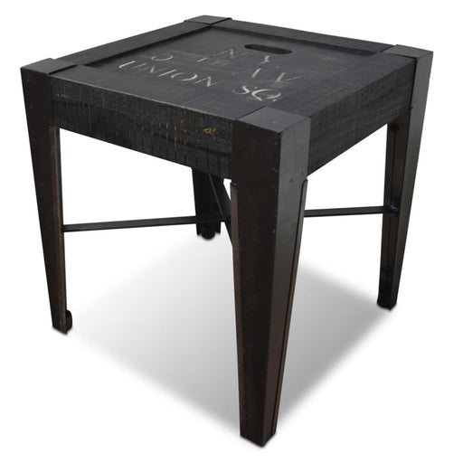 City Cross Bar End Table - New York - Crafters and Weavers