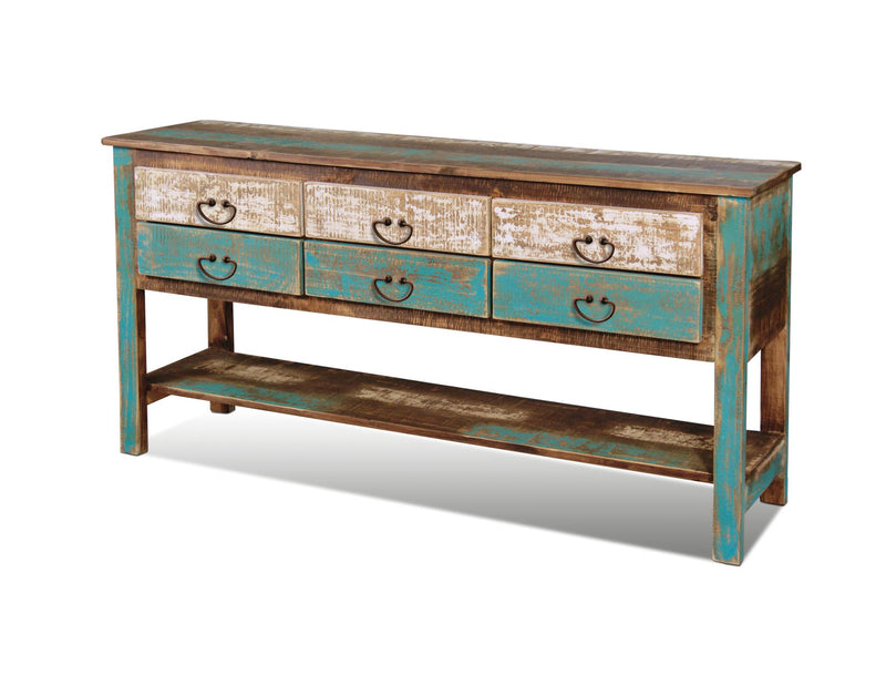La Boca 6 Drawer Painted Console