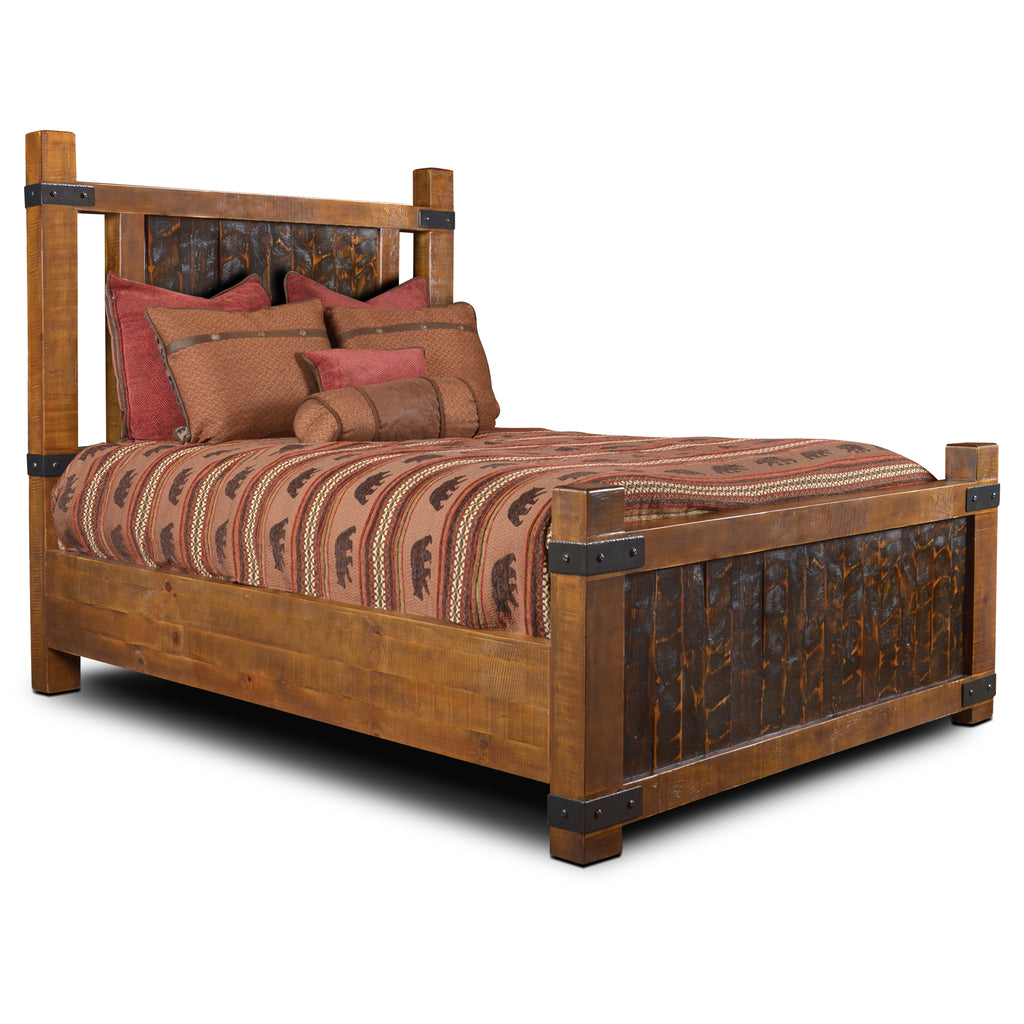 Marrone Rustic Modern Bed Frame - Queen Size