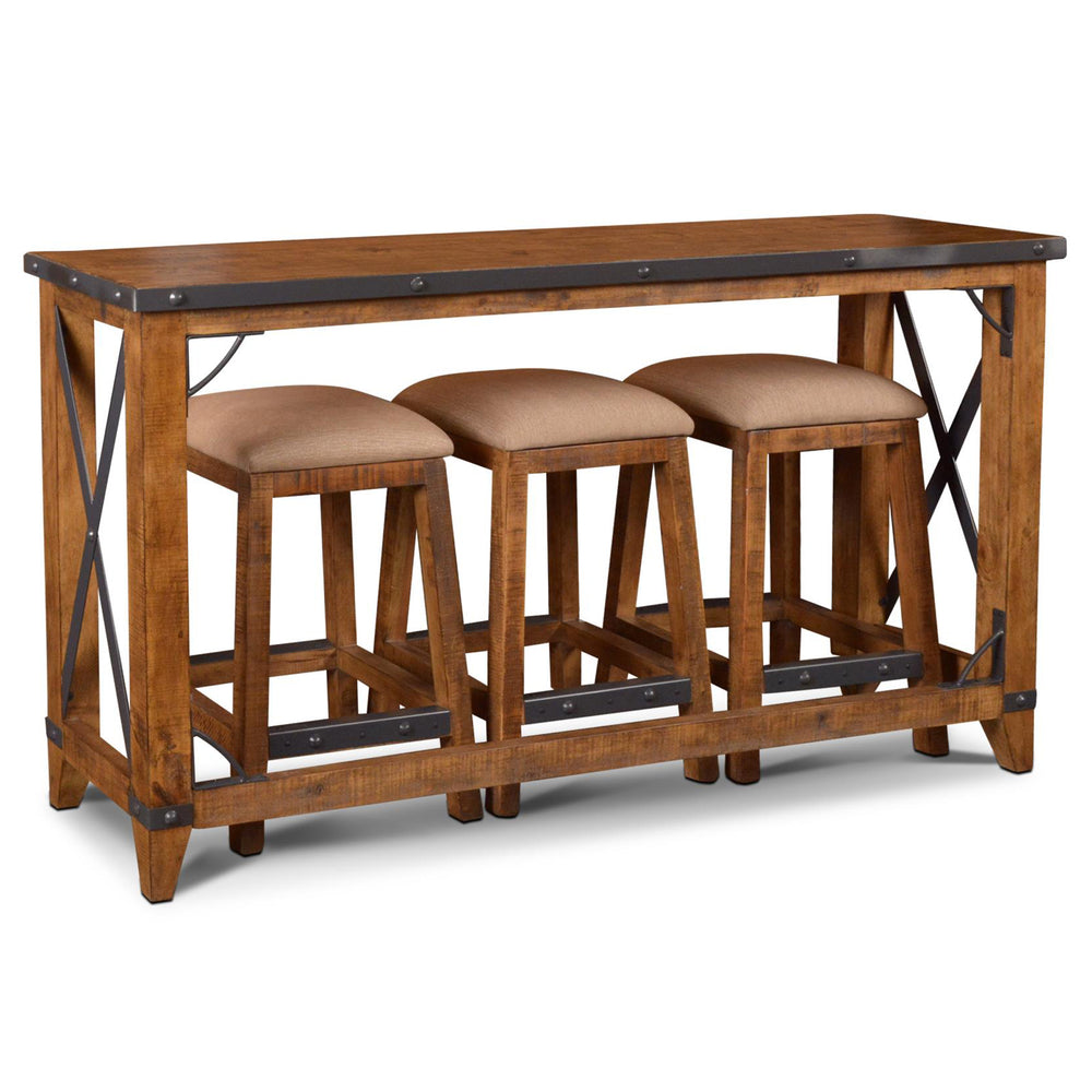 Phenomenal Knotty Pine Rustic Console Tables With Stools Small Dining Pabps2019 Chair Design Images Pabps2019Com