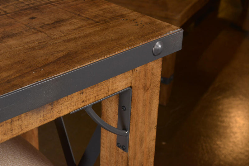 Knotty Pine Rustic Console Tables With Stools Small