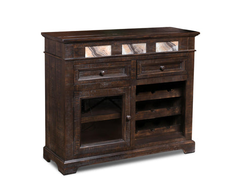 Onyx Rustic Wine Cabinet