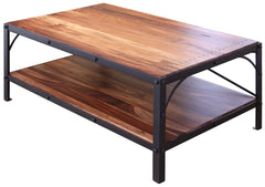 Granville Parota Industrial Tier Coffee Table