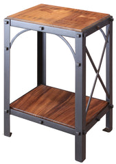 Granville Parota Industrial Tier Side Table