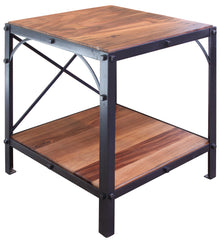 Granville Parota Industrial Tier End Table
