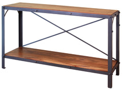 Granville Parota Industrial Tier Console Table
