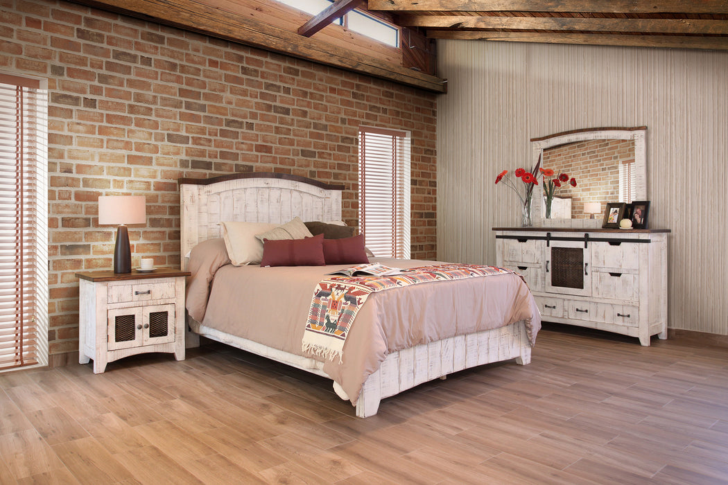 Greenview Farmhouse Bedroom 4 Piece Set White Crafters And Weavers