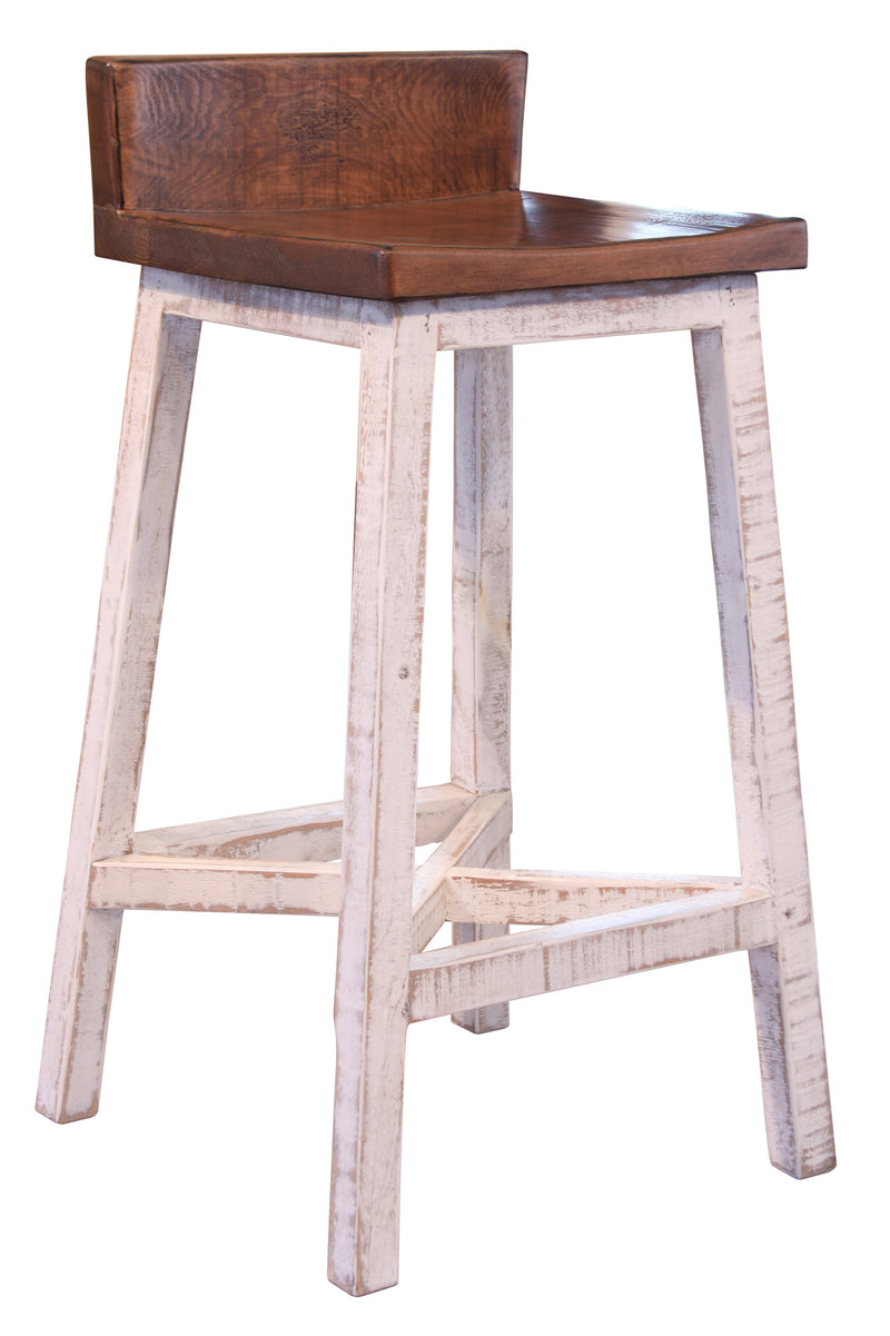 "Granville Stationary Bar Stool - Rustic Brown - 30"" High"