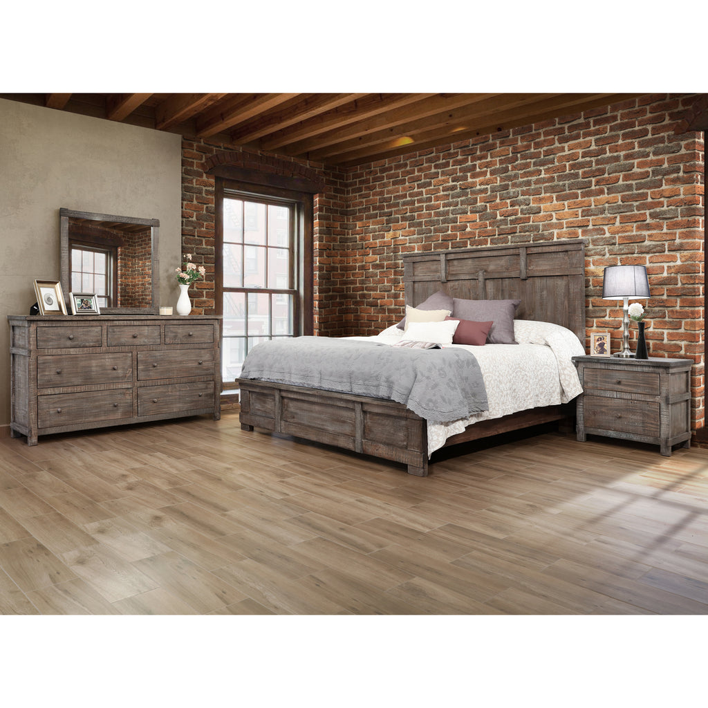 Greenview Weathered Gray Bedroom 4 Piece Set