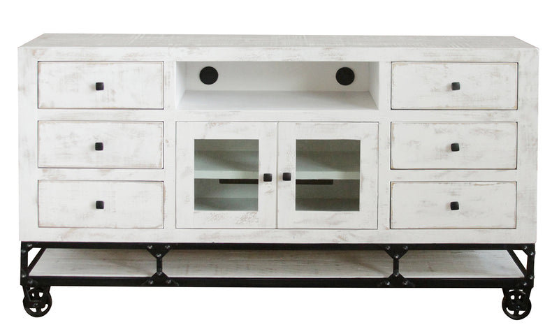 Greenview Forged Iron Base TV Stand - White - 70