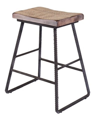 "Ashland Barley Twist Bar Stool - 24"" High"