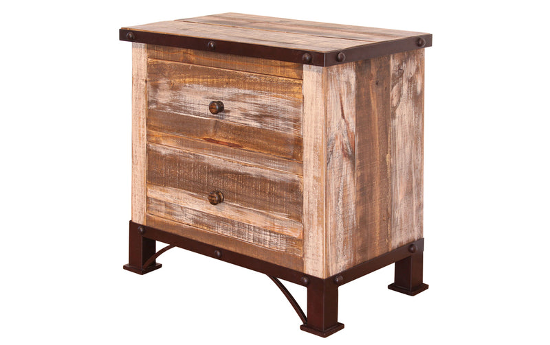 Bayshore 2 Drawer Nightstand - Multicolor