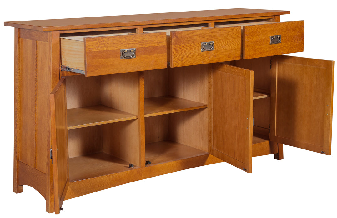 Mission 3 Door & 3 Drawer Sideboard - Michael's Cherry - 70""