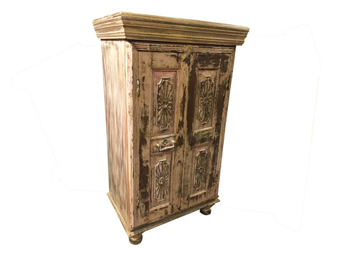 Antique Painted Cabinet - Crafters & Weavers - 1