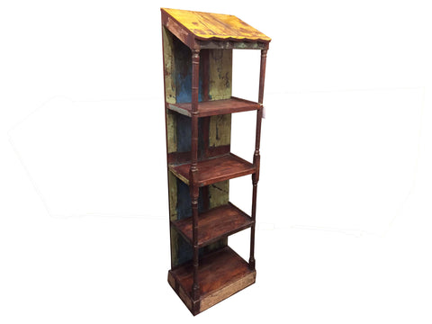 Artifact Slant Roof Bookcase - Crafters & Weavers - 1
