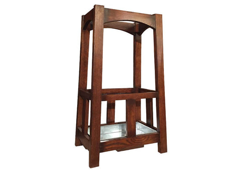 Arts & Crafts Mission Oak Umbrella Stand - Crafters & Weavers - 1