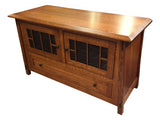 Arts and Crafts MIssion Quarter Sawn Oak TV Stand - Crafters & Weavers - 1