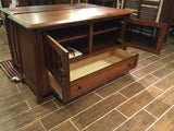 Arts and Crafts MIssion Quarter Sawn Oak TV Stand - Crafters & Weavers - 4