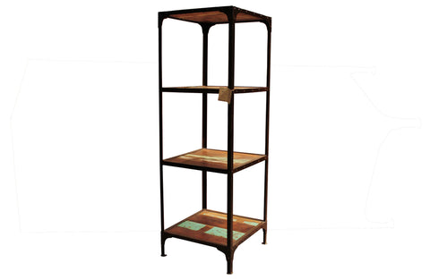 Artifact Reclaimed Wood and Iron Bookcase - Crafters & Weavers