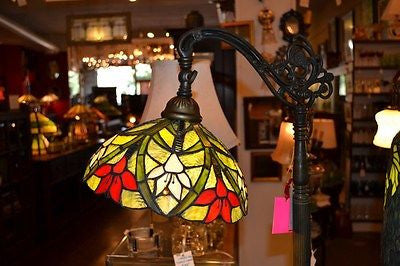 Tiffany style Stained glass Bridge Lamp / Reading Lamp DYL10-21BR - Crafters & Weavers - 1