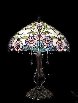 Tiffany style Stained glass Table Lamp QC163123 - Crafters & Weavers - 1