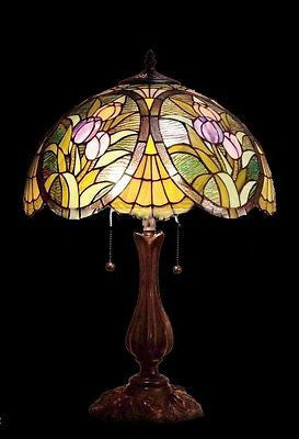 Tiffany style Stained glass Table Lamp QG162122 - Crafters & Weavers - 1