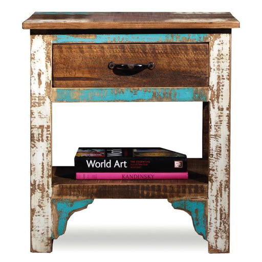 PREORDER La Boca 1 Drawer End Table - Crafters and Weavers