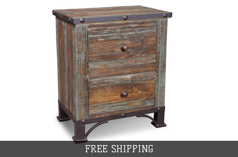 Addison Loft 2 Drawer Nightstand