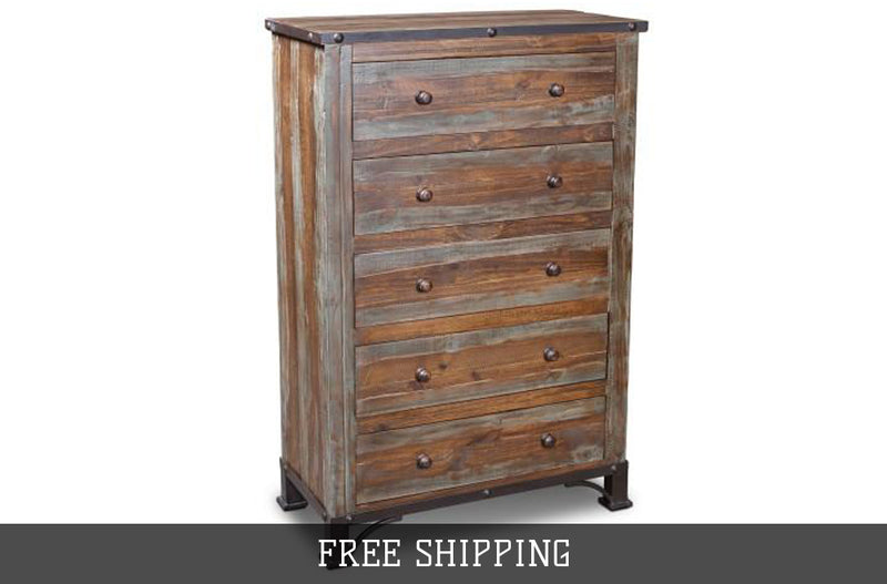 Bayshore Highboy Dresser - Multicolor