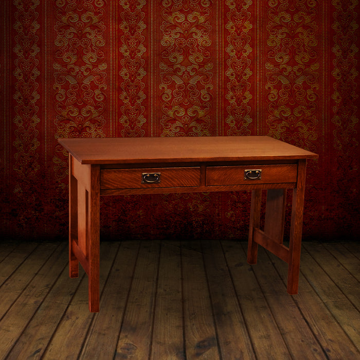 Mission / Arts and Crafts Solid Oak Writing Desk