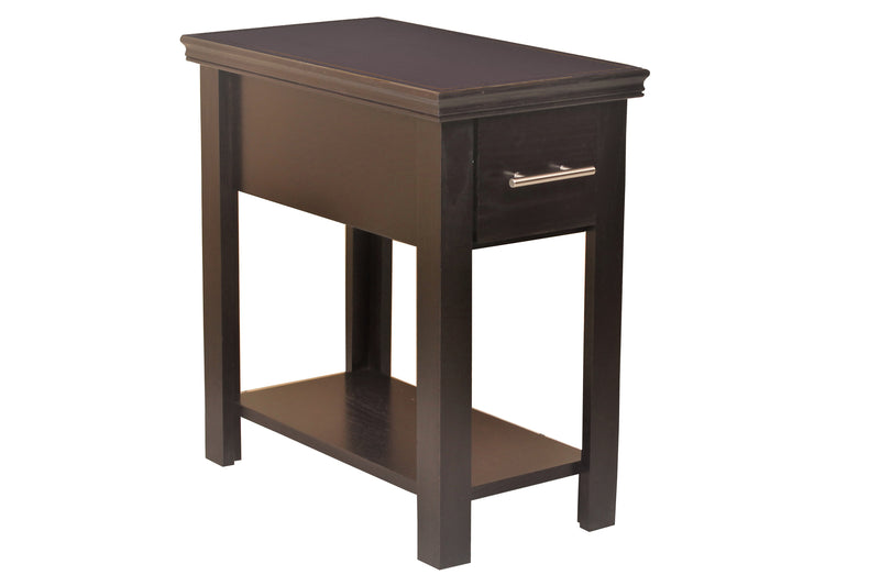 Brookline 1 Drawer Side Table - Espresso