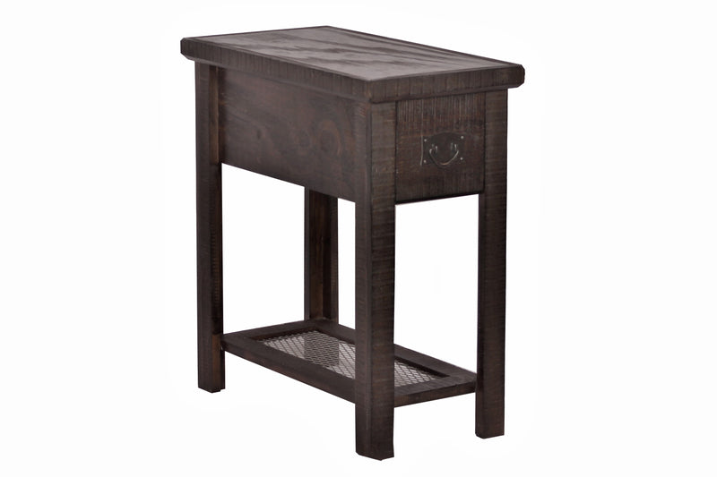 Barrington 1 Drawer Side Table - Rustic Brown