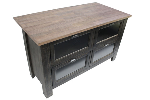 Emerson Kitchen Island - Distressed Black