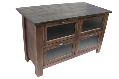 Emerson Kitchen Island - Rustic Walnut