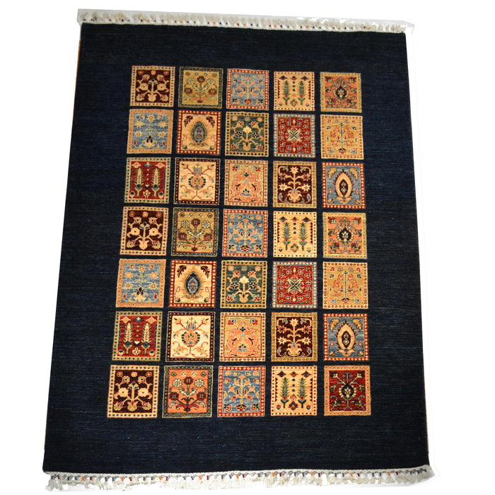 "Oriental Rug / Peshawar 5'9"" x 8'2"" - Crafters and Weavers"
