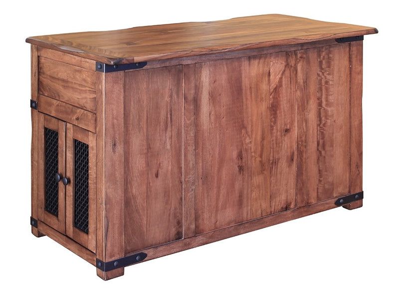 Granville Parota Kitchen Island - Crafters & Weavers - 3
