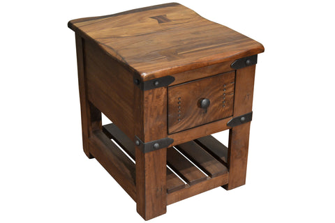 Granville Parota Wood Side Table - Crafters & Weavers - 1