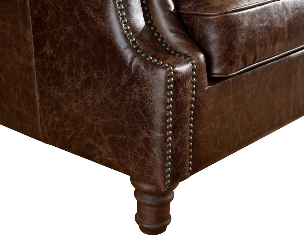 Crafters And Weavers In Business For Almost 20 Years In Usa  ~ Rolled Arm Leather Sofa