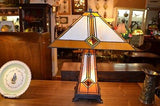 Tiffany Mission style Stained glass Table Lamp TF1735TL - Crafters & Weavers - 1