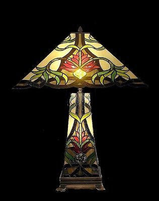 Tiffany style Stained glass Table Lamp QHS181816 - Crafters & Weavers - 1