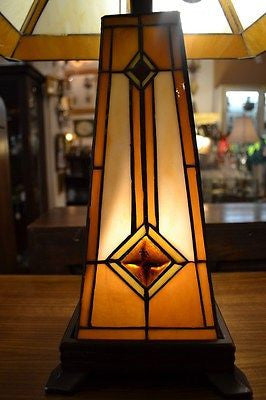 Tiffany Mission Style Stained Glass Table Lamp Tf1735tl