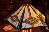 Tiffany Mission style Stained glass Table Lamp 18040LB - Crafters & Weavers - 2