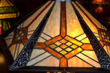 Tiffany Mission style Stained glass Table Lamp 18040LB - Crafters & Weavers - 4