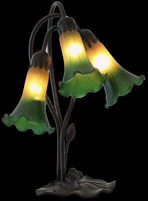 Tiffany style Lilly Table Lamp - Crafters & Weavers