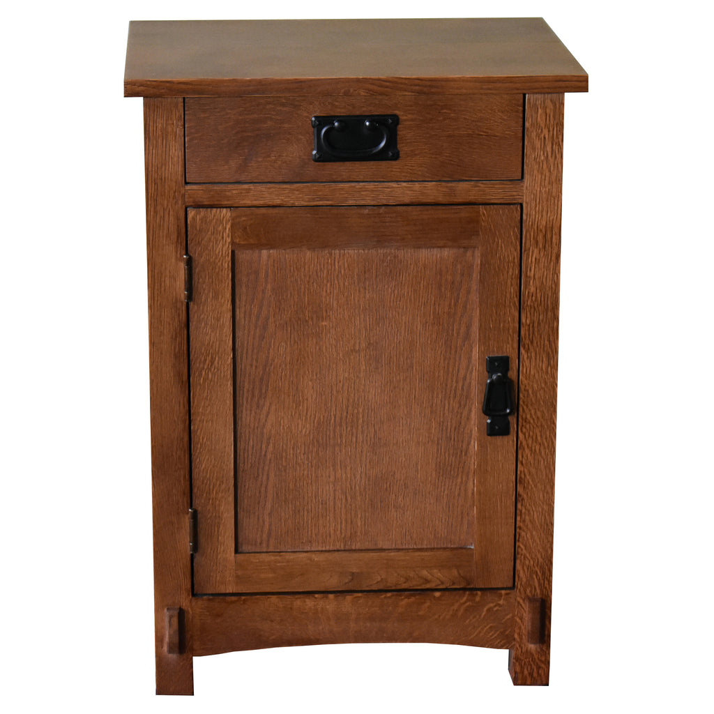 Mission / Arts and Crafts 1 Door, 1 Drawer Nightstand - Golden Brown